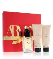 Giorgio Armani Sí parfémovaná voda Pro ženy 50 ml + tělové mléko 75 ml + sprchový gel 75 ml