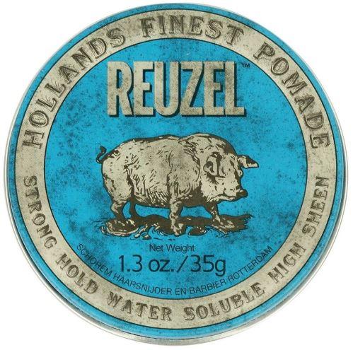 REUZEL Styling Blue Pomade Strong Hold pomáda na vlasy se středním zpevněním a leskem pro muže
