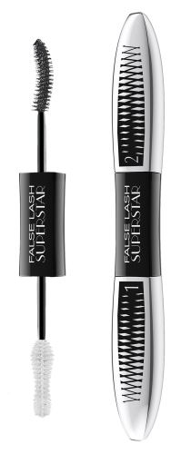 L'Oréal Paris False Lash Superstar řasenka pro efekt dvojnásobného objemu řas Black 2x6,5 ml