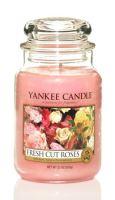 Yankee Candle Fresh Cut Roses vonná svíčka 623 g