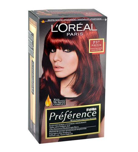 L'Oréal Paris Préférence Féria Hair Colour 1ks W P37 Pure Plum