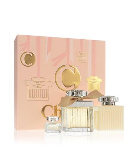 Chloé Chloé parfémovaná voda 75 ml + tělové mléko 100 ml + parfémovaná voda 5 ml Pro ženy dárková sada