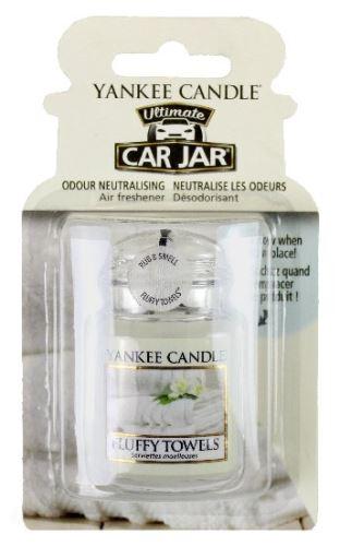 Yankee Candle Osvěžovač do auta Nadýchané osušky 1x visačka