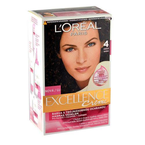 L'Oréal Paris Excellence Creme Hair Colour 1ks W 4 Brown