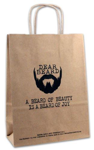DEAR BEARD Paper Shopper Dimensione 18x8x24
