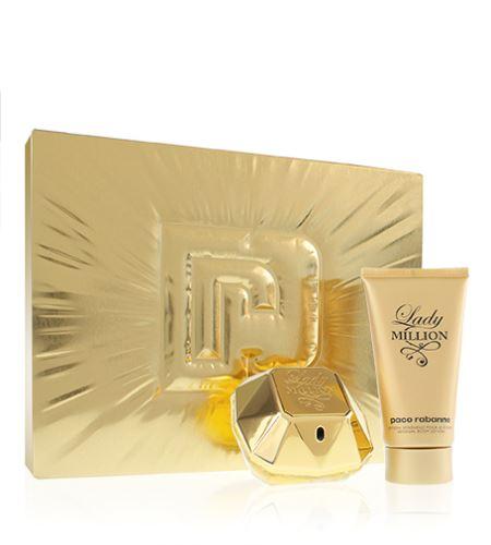 Paco Rabanne Lady Million parfémovaná voda 50 ml + tělové mléko 75 ml Pro ženy dárková sada
