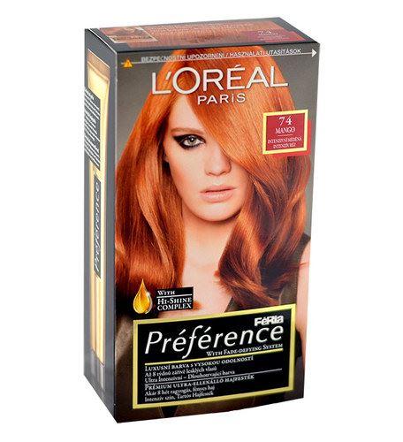 L'Oréal Paris Préférence Féria Hair Colour 1ks W 74 Mango