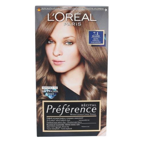 L'Oréal Paris Préférence Récital Hair Colour 1ks W 7.1 Island