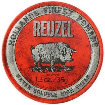 REUZEL Styling Red Pomade Water Soluble pomáda na vlasy se středním zpevněním a vysokým leskem pro muže