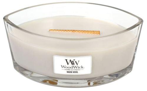 WoodWick Warm Wool vonná svíčka 453,6 g